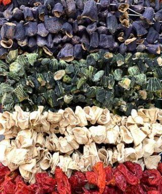 kurutmalıklar- acı biber kurusu -patlıcan kurusu -kabak kurusu -dolmalık biber kurusu
